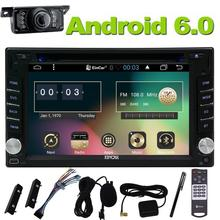 Double din 2 Din Android 6.0 Car DVD Player Navigation Stereo Radio GPS WiFi CAPACITIVE Touch Screen Back Camera Car PC 4 core