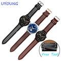 Qualidade genuína pulseira de couro 20x18mm alça de pulso faixa de relógio de substituição para huawei watch