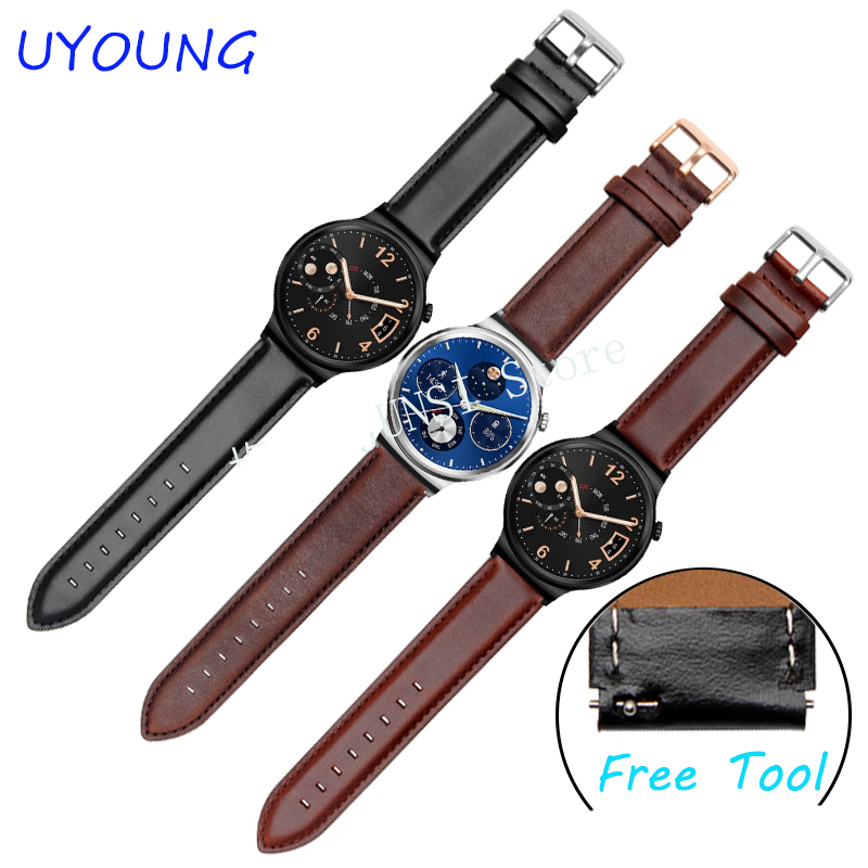 где купить Quality Genuine Leather Watchband 20 x18mm Wrist Strap Replacement Watch Band For Huawei Watch по лучшей цене