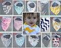 5 pcs bebê babadores new arrival caráter à prova d' água dupla bandagem unisex bib burp cloths infantil saliva babador bandana moda
