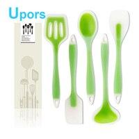 Silicone Kitchen Utensils 5pcs Set Kitchen Cooking Utensil Set Scraper Shovel Spoon Soup Salad Dense Soup