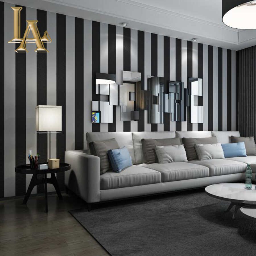 Cozy Fashion 3D Modern Striped Wallpaper For Walls Childrenu0027s Rooms Bedroom  Living Room Sofa TV Background
