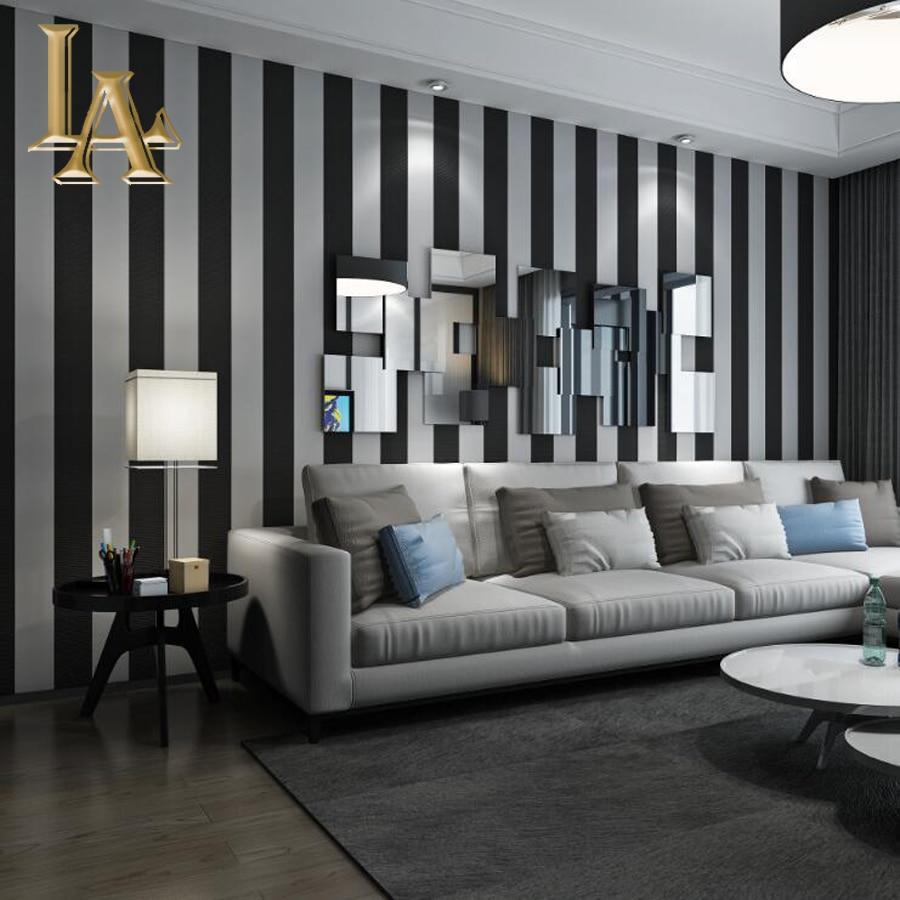 Cozy moda 3d moderno papel pintado a rayas para paredes de - Habitaciones pintadas con rayas ...