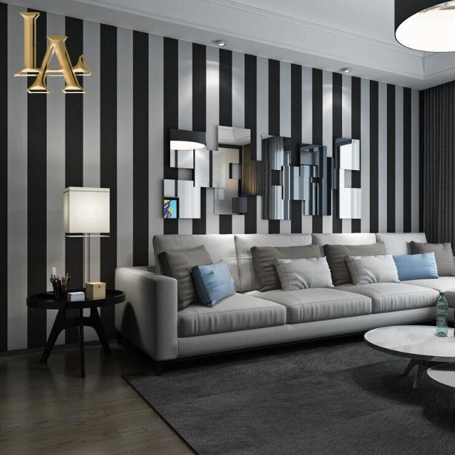 Di modo accogliente 3d moderno a righe carta da parati per for Carta da parati per soggiorno moderno