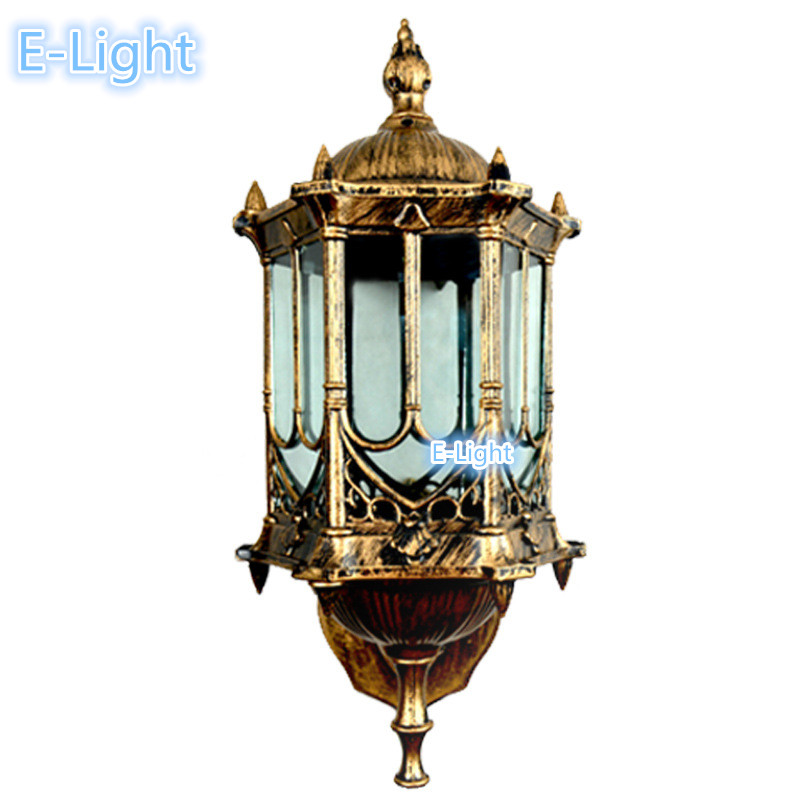 Outdoor Wall Light European Retro Style Waterproof Outdoor Porch Lamp Hotel Landscape Lighting ...