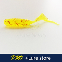 100pcs Soft plastic artificial isca pesca circle tail protein Grub lure fishing worm moggot grub lure baits 4cm