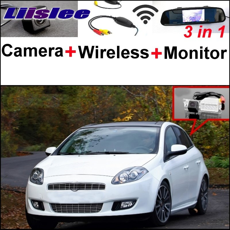 Liislee 3 in1 Special Rear  View Camera + Wireless Receiver + Mirror Monitor Parking System For FIAT Bravo Brava Ritmo 2007~2015 3 in1 special rear view camera wireless receiver mirror monitor parking system for ford ecosport 2013 2015