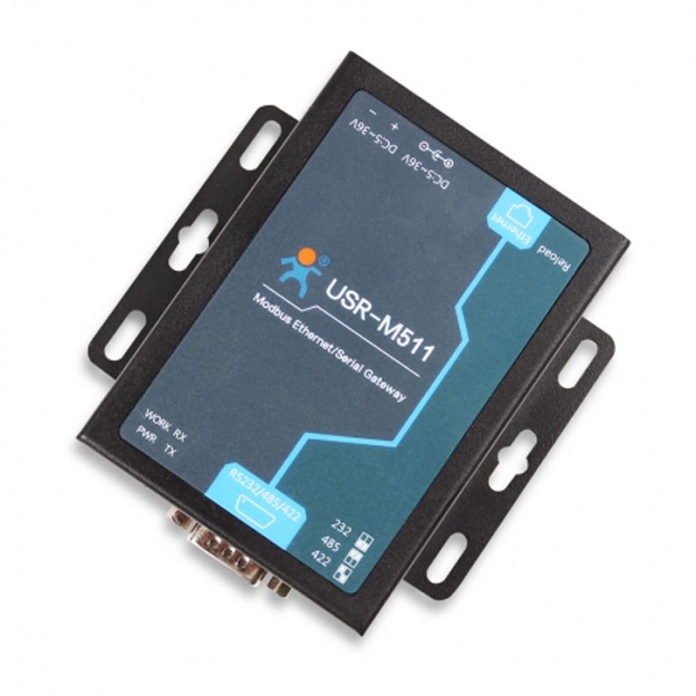 Industriale Modbus Gateway RS232 RS485 per Ethernet Seriale Modbus Converter Supporta RTU a TCP/ASCII Slave Dispositivo USR-M511 Q154Industriale Modbus Gateway RS232 RS485 per Ethernet Seriale Modbus Converter Supporta RTU a TCP/ASCII Slave Dispositivo USR-M511 Q154