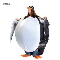 JYZCOS Adult Inflatable Penguin Bird Costume For Women Men Cosplay Party Animal Mascot Halloween Stage Club
