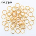 Wholesale 200-450pcs Gold Silver Plated Metal Split Rings Findings 10/4/5/6/7/8/12mm for Jewelry Making Necklace