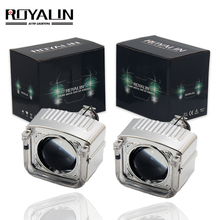 ROYALIN Mini HID Projector Bixenon Lens H1 Car Styling DRL Angel Eyes For H1 H4 H7 Auto Head Lamp Retrofit цена