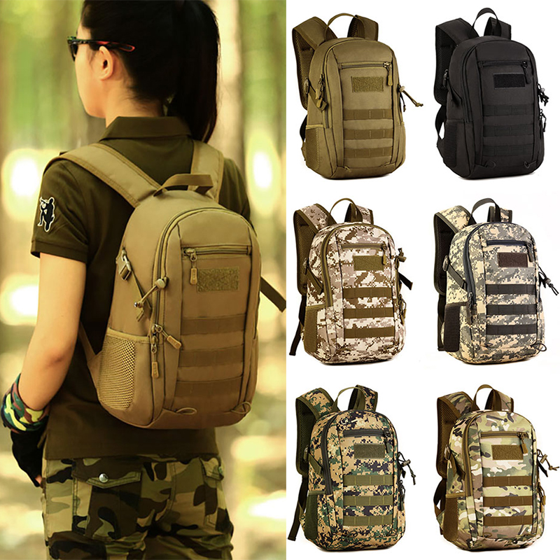 Digitial Bag Viaggio Zainetto Zaino Di Pack Scuola Black Assault cp Studente Gear jungle Mini Digitial Campeggio Digital desert 12l brown acu Militare Digitial Molle Tactical Trekking w7xUZq