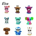 10pcs/lot Original Ty Beanie Boos Big Eyes Plush Toy Doll Pink Koala Sheep Fox Elephant  Panda Owl Unicorn Cat Dog Kids Gift