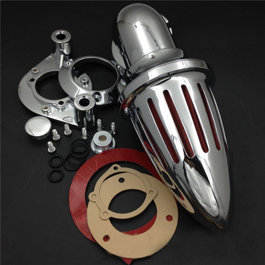 For 91 06 Harley Davidson Sportster XL 883 1200 Spike Cone Motorcycle Air Cleaner Intake Filters Kit Accessories 1991 1992 2006 in Air Filters Systems from Automobiles Motorcycles