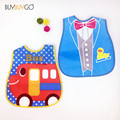 Baby Lunch Bibs 2 PCS/LOT 2017 New Kids Plastic Bibs Child EVA Soft Waterproof Newborn Bib Infant Saliva Towel Colorful