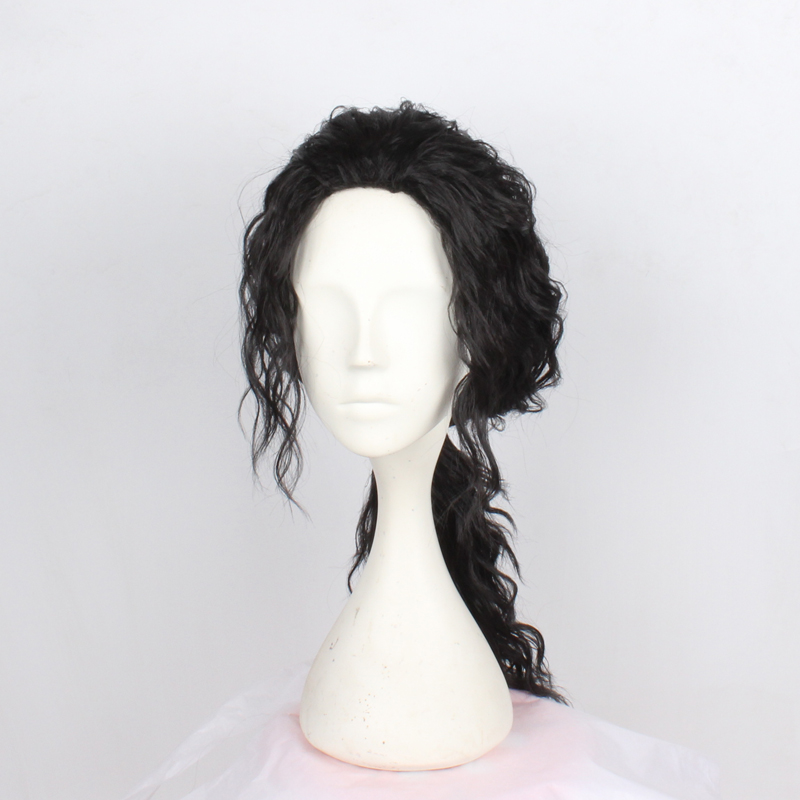 Anime Michael Jackson Long Black Curly Wig Cosplay Costume Hair MJ High Quality Role Play Wigs Free Shipping in Anime Costumes from Novelty Special Use