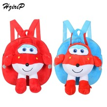 HziriP New Kids Plush Backpack Children Cartoon Anime Super Wings Robot Plush Backpacks Birthday Gift Toys For Children 2 Color cool robot anime fans gundam backpack zion hero char aznable s custom backpack red and black color for selection ab227