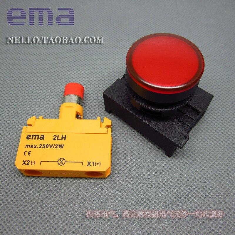 [SA] EMA 22 мм светодиодный s E2I0* цвет красный, желтый синий и белый светодиодный DC6/12/24 V огни- 10 шт./лот