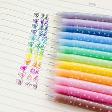 18 pçs/set canetas Gel Doce de geléia cor Kawaii caneta marca caneta material de Escritório papelaria presente Da Escola para a criança