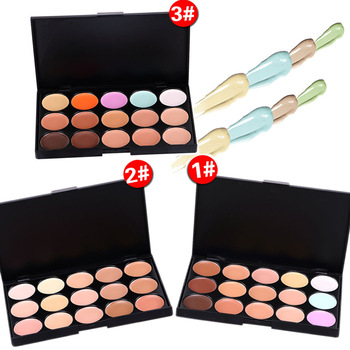 300 PCS 10*15 CM Natural Professional Concealer Palette 15 Colors Makeup Foundation Cream Dark Circles Acne Invisible Base Cream