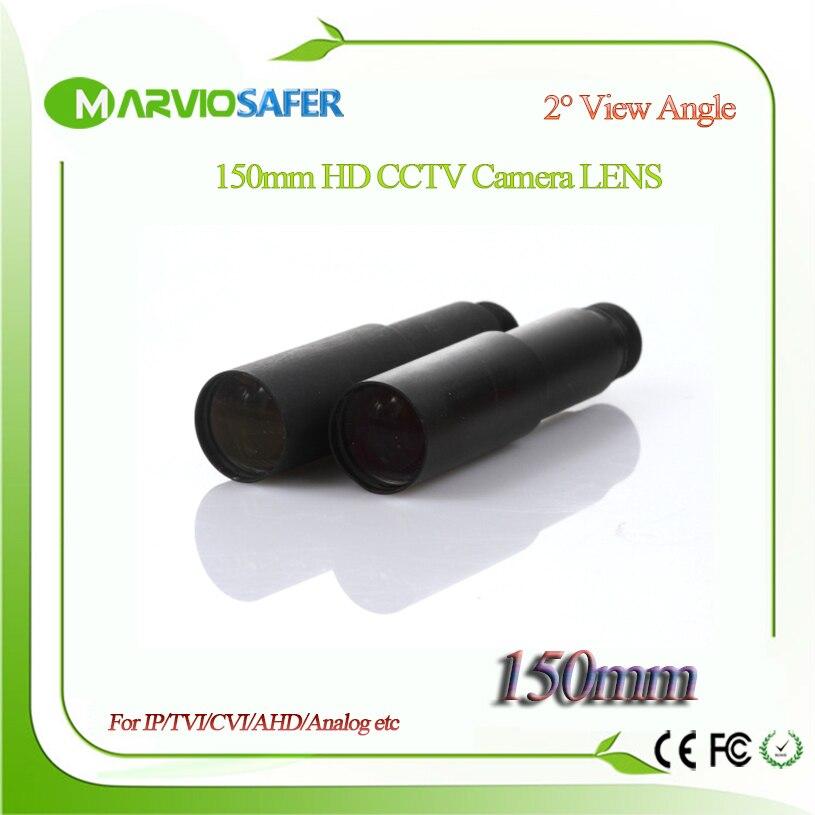 Réseau IP de vidéosurveillance HD 150 MM marviosafe/objectif de caméra AHD/CVI/TVI M12 * 0.5, Angle de vue à 2 degrés, moniteur longue Distance