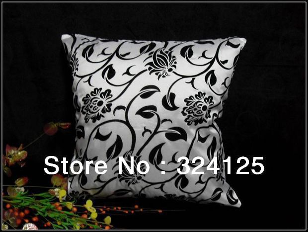 "Wholesale Free Shipping flocked velvet fabric pillow cover Cushion cases Jacquard 18 "" 45X45CM"