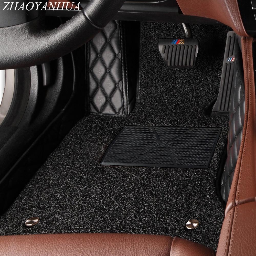 ZHAOYANHUA Voiture tapis de sol pour Toyota Land Cruiser Prado 150 120 Corolla 5D tous les temps car styling tapis étage liners (2002-)