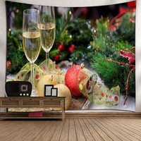 HAPPY NEW YEAR MERRY CHRISTMAS Xmas Hanging Wall Tapestry Home Decor Yoga Beach Towel Wall Cloth Printed Tablecloth Wall Carpet