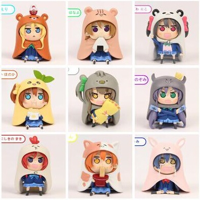 NEW hot 8cm 9pcs/set Himouto! Umaru-chan Himouto Umaru chan cosplay love live collectors action figure toys Christmas gift toy anime himouto umaru chan umaru doma casual dance pants lovely fashion school backpacks for girls canvas