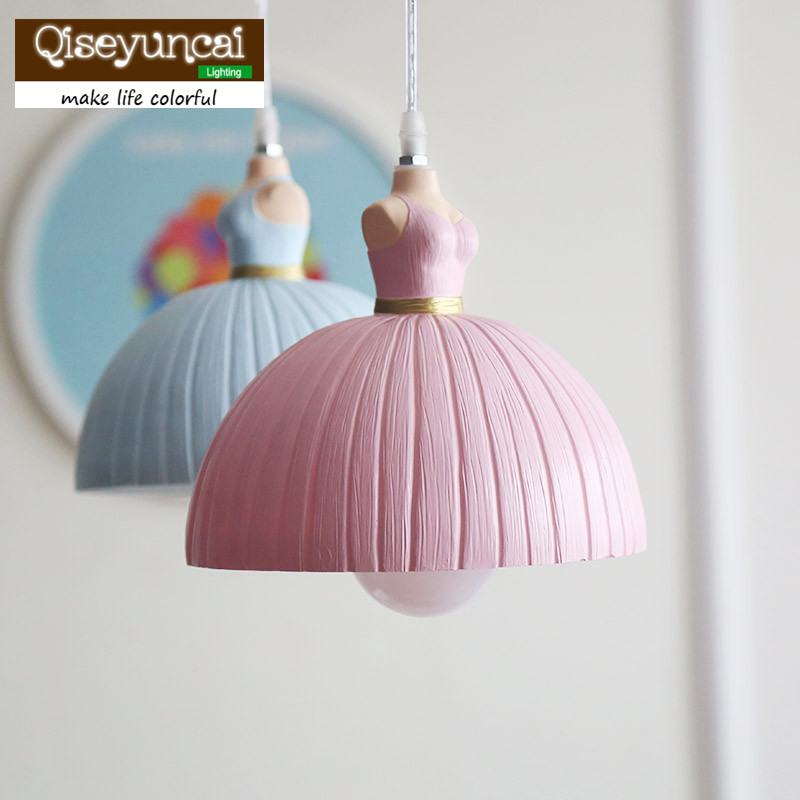 Qiseyuncai Nordic ballet girl chandelier restaurant bar home decoration children bedroom bedside lighting free shipping qiseyuncai american children s room england soldier legion wall lamp boy girl bedroom lighting free shipping