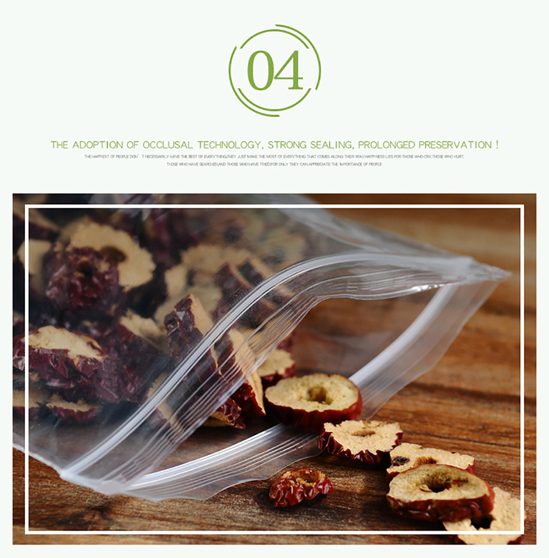 1 Transparent,Ziplock bag,Reseal,Zipper,Bulging ed edge,line,package,Store,Home,Office,food,magazine,Powder,granules.Dried fruit,tea,seasoning,whole grains,casual  (9)