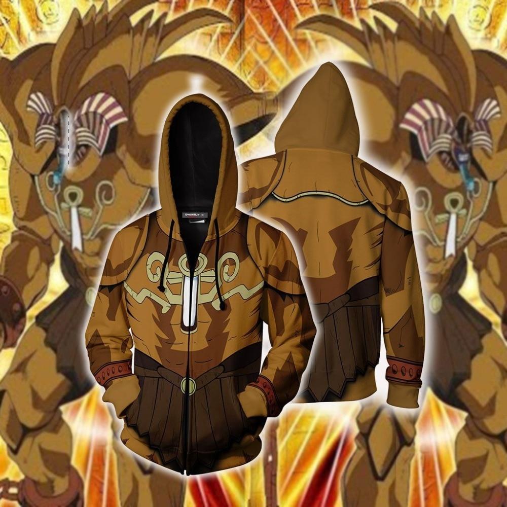 Bescheiden Game Verboden Een Exodia Sweatshirts Hoodie Yu-gi-oh: Officiële Kaart Game Anime Jassen Man Vrouwen Jas Cosplay Kostuum