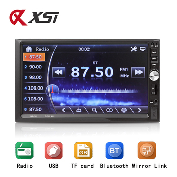Radio Car Bluetooth FM AUX USB Auto Audio Player Mirror Link For Andriod 2 Din Autoradio With Rear View Camera Remote Control