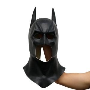 Image 1 - باتمان أقنعة الكبار هالوين قناع كامل الوجه اللاتكس كاريتاس فيلم بروس واين تأثيري لعبة الدعائم