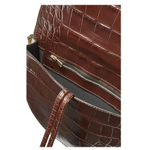 Crossbody Crocodile Saddle Bags Leather Shoulder Bag PU27