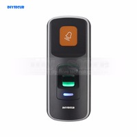 DIYSECUR 1000 Users Fingerprint 125KHz RFID Card Reader 2 In 1 Door Lock Access Controller Kit Plastic Shell