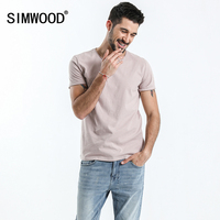 SIMWOOD Brand Tops 2018 Spring Summer Short Sleeve T Shirts Men Striped O Neck Fashion Tees