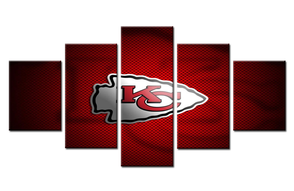 5 Panel Kansas City Chiefs Modern Home Wall Decor Canvas Modular  sc 1 st  Rustic Charm Decorating Ideas & Kansas City Chiefs Wall Decor - Home Decorating Ideas