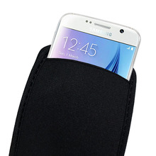 Black Soft Flexible Neoprene Protective Pouch Bag for Samsung Galaxy S6 G9200 S5 S4 i9500 S3 i9300 Protect Sleeves Pouch Case