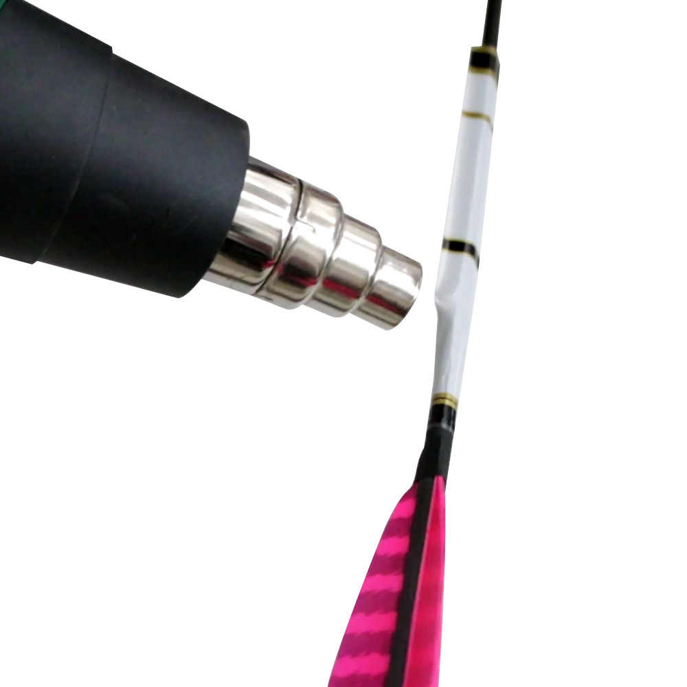 15pcs Archery Stickers Heat Shrink Arrow Tail Shaft Paster Wraps 19*1.8cm