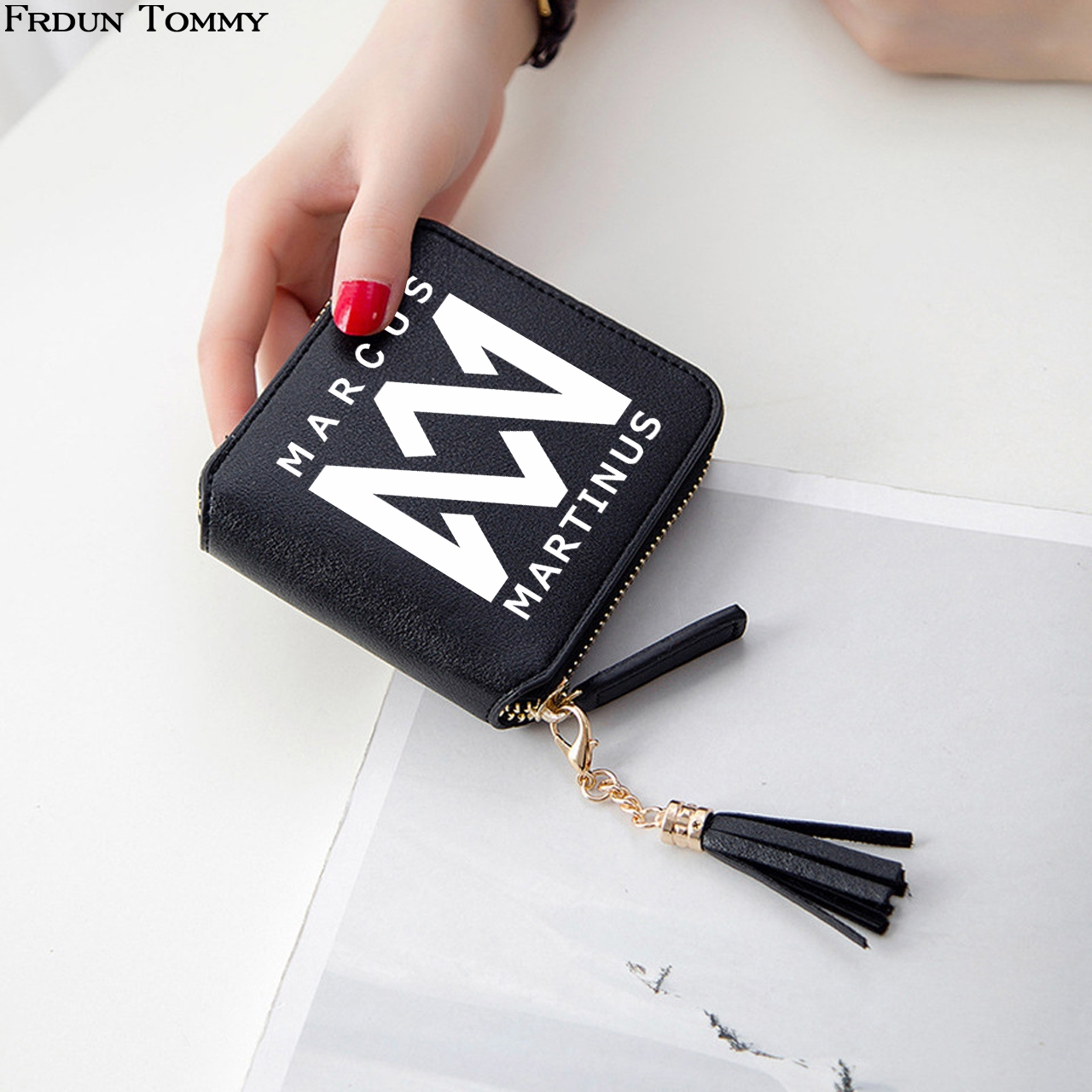Frdun Tommy Marcus And Martinus Wallets Mini 3D Print Bags Women Wallets Short Zipper Card Wallet Girl Tassel Wallets And Purses