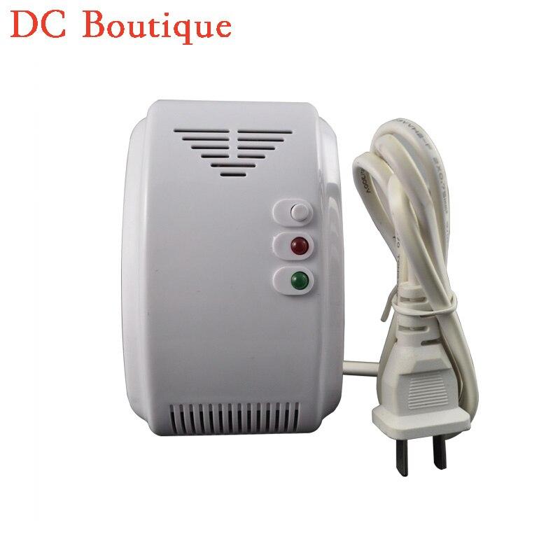 imágenes para (1 UNIDS) Voltaje 220AC Independiente sensor de Fugas de Gas Detector de Fugas de Gas LPG Gas natural Gas de Carbón salida de relé NC red can