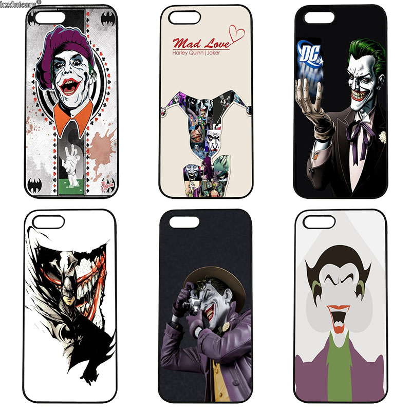 Hard PC Plastic Cover Poker Joker Novelty Cell Phone Cases for iphone 8 7 6 6S Plus X 5S 5C 5 SE 4 4S iPod Touch 4 5 6 Shell