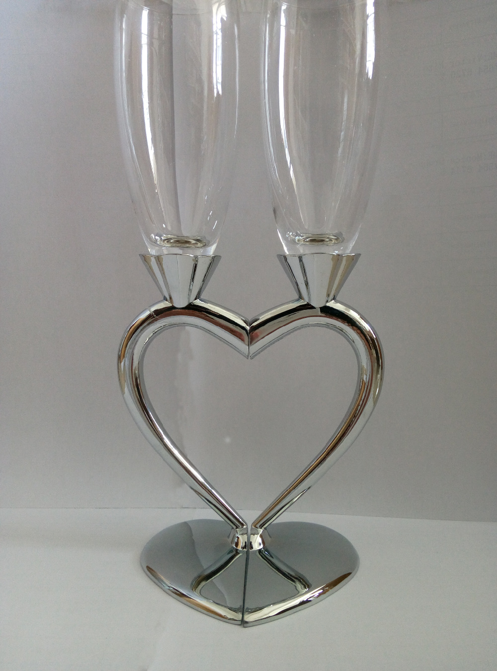 1set heart design silver plated goblet wedding toasting. Black Bedroom Furniture Sets. Home Design Ideas