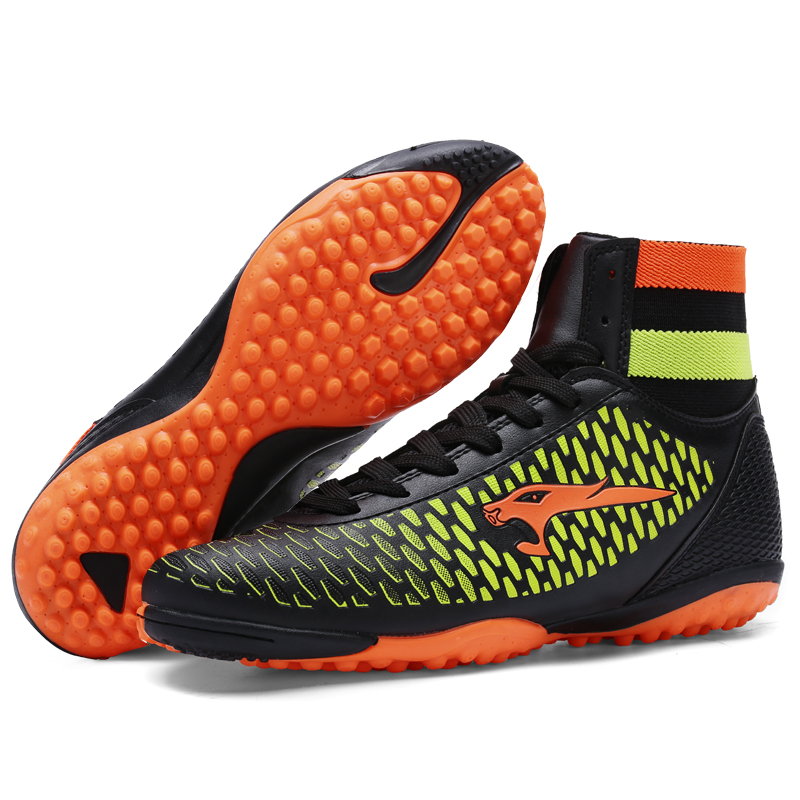 32a7f72348b2 Men Football Boots High Ankle Football Shoes Broken Nails Turf Soccer Shoes  For Hard Court Outdoor Soccer Shoes With High Top-in Soccer Shoes from  Sports ...