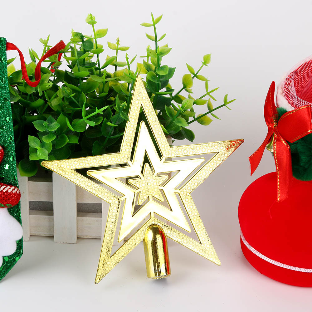 1pc golden star christmas tree top decoration xmas supplies 3 size selected beautiful home decor a65 in tree toppers from home garden on aliexpresscom - Christmas Tree Top Decorations