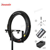FALCONEYES 31W 512 Ring LED Photography Panel Light W/Camera Bracket//Battery/Charger/LightStand DVR 512DVC SET TWO CD5