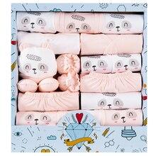 Pasgeboren Kleding Kit Voor Baby Geschenkdoos 18Pcs Herfst Winter Ondergoed Pasgeboren Warme Kleding Katoenen Pak Baby Benodigdheden Gift doos