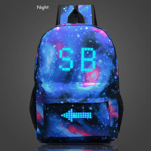 2016 Brand Fashion Women luminous Laptop Backpacks Printing SB School Bags For Teenagers lady Canvas Men Travel Rucksack Mochila