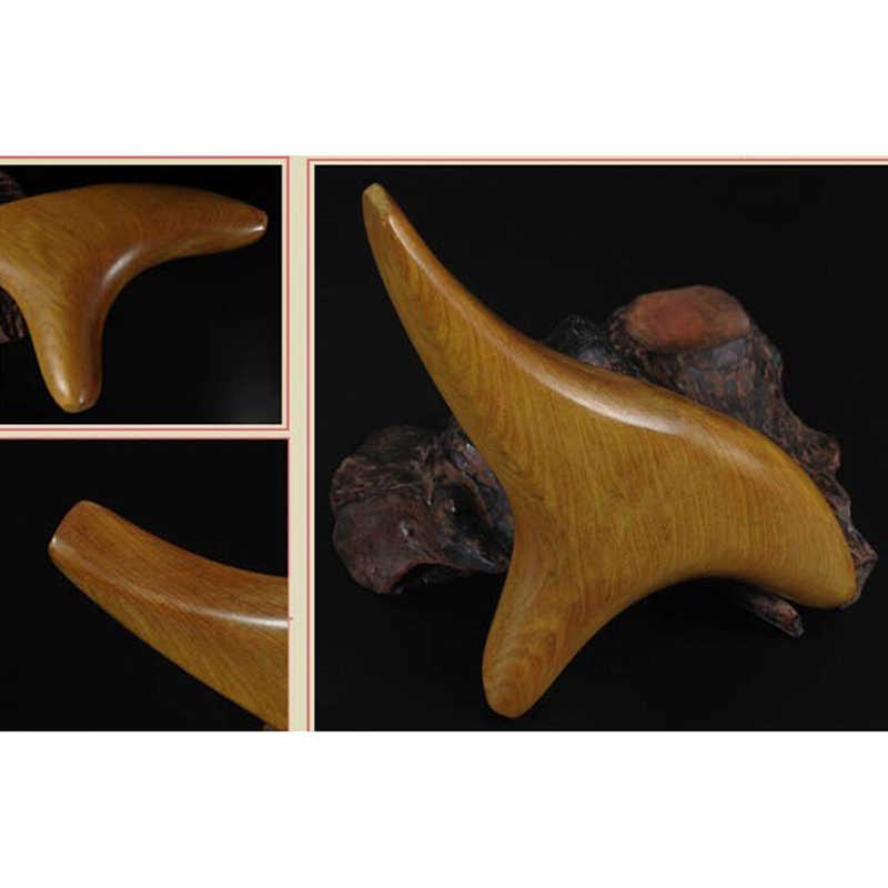1 個の三角形三叉ボディリラックス香木ネック指圧リフレクソロジー木製スパセラピーマッサージ血液循環のため